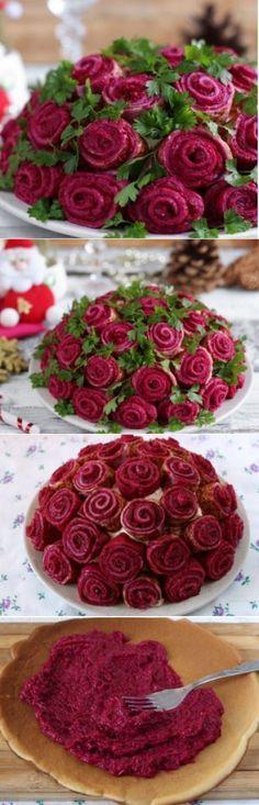 Салат «Букет роз» («Сельдь под шубой»)