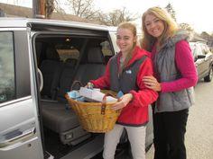Samaritan is grateful for its staff! #givingback #family   On Saturday, many staff members volunteered their time to personally deliver Thanksgiving baskets to our patients. They even made it a family affair! This is Social Worker Colleen Fritsch, with daughter Gloria. Together they delivered 3 baskets to 3 hospice patients and their families.