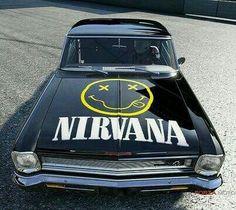 Nirvana logo on car