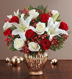59 best christmas flowers centerpieces images xmas christmas rh pinterest com