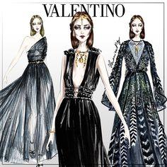 #VALENTINO #illustration #fashion