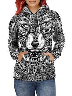 Cute Tribal Cartoon Animal OwlUnisex 3D Printed Sweatshirt Casual Pullover Hoodie With Big Pockets