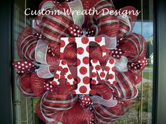 Deco Mesh Texas A and M Wreath by lilmaddydesigns on Etsy