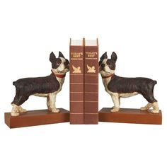 {2 Piece Mans Best Friend Bookend Set} Boston Terrier bookends; super cute!