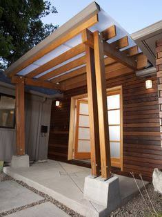 Creative College Hill remodel with Perfect Design: Exciting Entry View Modern College Hill Remodel Plank Wall