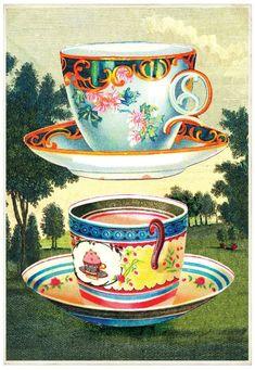 tea cups | cartolina