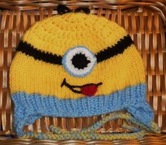 Gronkowski wore a similar hat in the Patriots Parade.........UNISEX  HAT -- MINION-LIKE -- INSPIRED BY THE MOVIE--SIZING -5 YEARS TO 10 YEARS #Handmade #CHARACTER