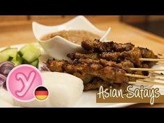Die ORIGINAL Satay Spieße - Mega leckerer Snack // würzige Fleischhappen aus Asien - YouTube