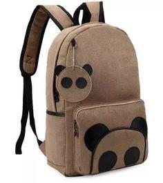 mochila panda cute kawaii mujeres niños nueva moda hombre Bőr Hátizsák f9abaf1c6d