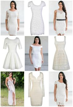 41adebea816 Color Coded  Cute Ivory Dresses