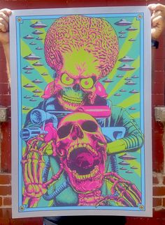 Awesome #MarsAttacks custom artwork by Steven Luros Holliday