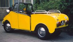1968 Rombouts (Dutch) 2-door open top micro car with a 125cc single cylinder 2-stroke Heinkel scooter engine