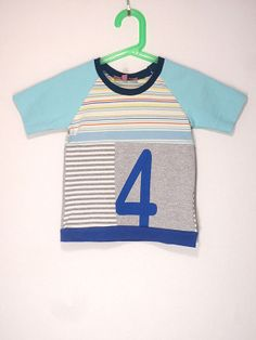 Upcycled OOAK  Size 4 T Shirt  Number 4 Graphic by TwoSweetMamas, $20.00