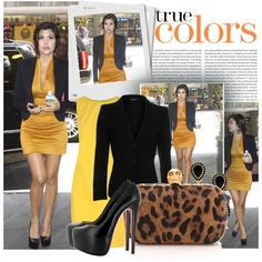 """Celebrity Style: Kourtney Kardashian"" by nastyaafanasova on Polyvore"