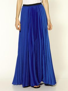 4b1067a1a5 maxi skirt   Enza Costa Pleated Maxi Skirt in Blue (sapphire ) - Lyst Rag