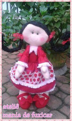 Titita boneca de feltro joaninha