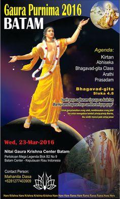 Hare Krishna Batam: Gaura Purnima Batam 2016