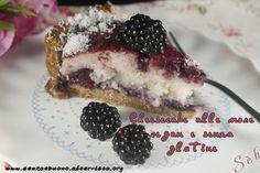 Crostata cheesecake alle more vegan e senza glutine http://www.senzaebuono.it/cheesecake-alle-more-vegan-senza-glutine/