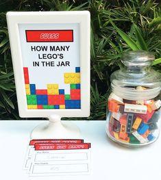 Jeu d'anniversaire Lego: combien de brique lego dans la boîte?