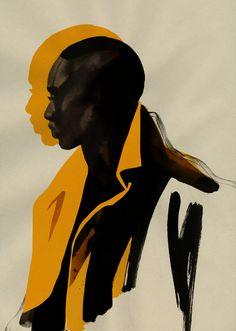 Saved onto Concepts & Illustrations Collection in Illustration Category Art Inspo, Painting Inspiration, Arte Black, Black Art, Black Pics, Arte Grunge, Pop Art, Art Afro, L'art Du Portrait