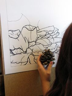 IMG_402  Absolutely love this technique!! Great way to draw flowers and nature in a simple way