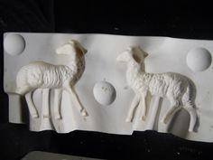 Bil Mar 420 Two Lambs plaster casting ceramic mold