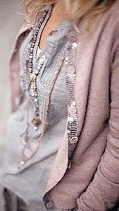~ Living a Beautiful Life ~ pink & grey Grey Fashion, Boho Fashion, Winter Fashion, Womens Fashion, Elisa Cavaletti, Mode Shoes, Mode Plus, Bohemian Mode, My Wardrobe