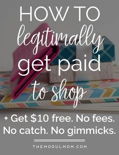 Get paid to shop online. You also get a $10 signup credit for checking it out. No fees. @Ebates