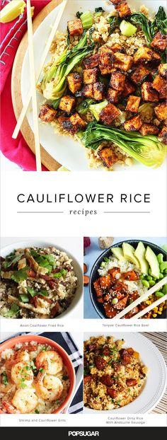 """More and more starches like rice, couscous, and grits are being replaced by pulverized cauliflower. It sounds totally strange, but we're seeing it everywhere — from our Pinterest feeds to our favorite food bloggers. Check out these recipes to become a cauli-""""grain"""" believer!"""