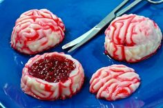 Zombie brain jello shots