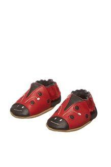 Leren Schoenen Ladybug<BR> Rood en Marineblauw