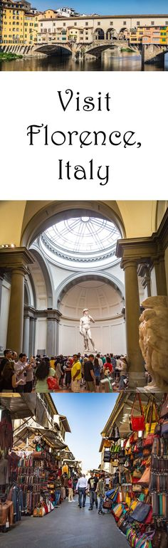 Visit the David, the leather markets, and the Ponte Vecchio in Florence, Italy Vacation Trips, Dream Vacations, Italy Vacation, Italy Holiday Destinations, Oh The Places You'll Go, Places To Visit, Voyage Rome, Visit Florence, Moving To Italy