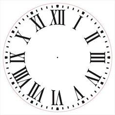 Farmhouse Clock Face Stencil by Roman Numerals Clock Art, Diy Clock, Tattoo Roman, Clock Face Printable, Face Stencils, Farmhouse Clocks, Clock Tattoo Design, Fancy Clock, Wood Clocks