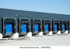 View of loading docks - stock photo
