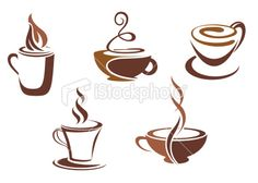 Coffee symbols for cafe or fast food design Coffee Icon, Coffee Logo, Coffee Art, Coffee Cups, Tea Cups, Hot Coffee, Coffee Time, Logo Café, Cafe Logos