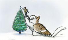 Merry Christmas Owl Griffin by RobtheDoodler.deviantart.com on @DeviantArt