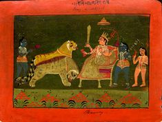 Full: Front Gouache painting on paper. © The Trustees of the British Museum Rajasthani Painting, Rajasthani Art, Indian Traditional Paintings, Indian Art Paintings, Indian Goddess, Durga Goddess, India Painting, Indian Elephant, Art N Craft