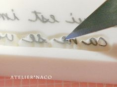 I really need more practice to get my handwriting text stamps as clear as this...