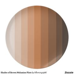Shades of Brown Melamine Plate