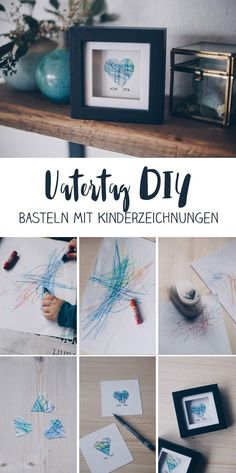 DIY gift idea with children& drawing - gift idea for grandma .- DIY Geschenkidee mit Kinderzeichnung – Geschenkidee für Oma und Opa DIY gift idea with child& drawing – make gifts with toddler – heart in the frame for grandma and grandpa idea - Diy Para A Casa, Diy For Kids, Crafts For Kids, Children Crafts, Diy Bebe, Father's Day Diy, Grandma And Grandpa, Drawing For Kids, Toddler Drawing