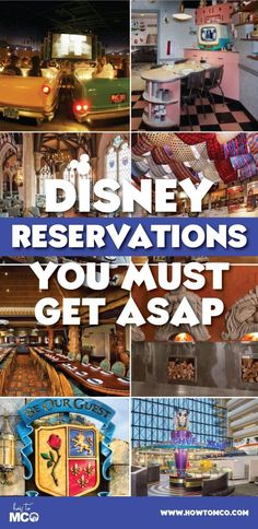 Dining reservations go fast at the Walt Disney World Resort. List of the top 10 reservations to get asap! For more Disney tips and tricks go to http://HowtoMCO.com