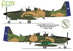 Chilean Air Force Embraer A-29 Super Tucano.