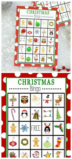 Free Printable Christmas Bingo Game-This Christmas Bingo is perfect to print and. - Free Printable Christmas Bingo Game-This Christmas Bingo is perfect to print and play at a holiday - Christmas Bingo Printable, Christmas Bingo Game, School Christmas Party, Christmas Party Table, Holiday Party Games, Christmas Activities For Kids, Holiday Fun, Christmas Holidays, Kindergarten Christmas