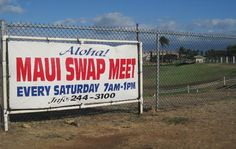 Held every Saturday from 7 a. to 1 p., the Maui Swap Meet is not only the only market of its kind on the island of Maui, but one of Hawaii's best swap meets as well. Trip To Maui, Maui Vacation, Aloha Hawaii, Hawaii Life, Maui Travel, Tourist Trap, Hawaiian Islands, Beautiful Islands, Trip Planning