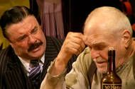 Nathan Lane and Brian Dennehy star in Robert Falls's sterling new production of Eugene O'Neill's tough, loquacious, magnificent play at the Goodman Theater in Chicago. New York Times, Ny Times, Goodman Theatre, The Iceman Cometh, Brian Dennehy, Eugene O'neill, Theater Chicago, Theatre Reviews, Pipe Dream