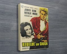 Rebel without a Cause $24.00–$698.00 This attractive canvas print features the movie poster print of the vintage movie, Rebel without a cause, in Spanish. As with all art on this site, we offer these prints as stretched canvas prints, framed print, rolled or paper print or wall stickers / decals. http://www.canvasprintsaustralia.net.au/  #Stretchedcanvasprints #Canvasphotos