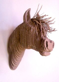Hey, I found this really awesome Etsy listing at http://www.etsy.com/listing/170392406/decorative-cardboard-mounted-horse-head