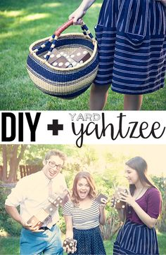 DIY Yard Yahtzee from WhipperBerry