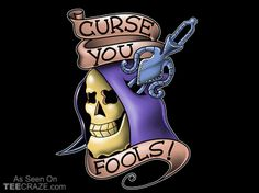 Curse You Fools T-Shirt Designed by odysseyroc  As Seen On: http://teecraze.com/daily-deal-6/