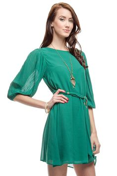 Misha Dress in Emerald